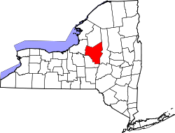 New York Map showing Oneida County