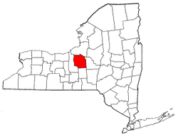 New York Map showing Onondaga County