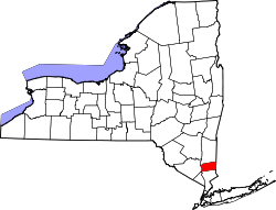 New York Map showing Putnam County