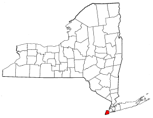 New York Map showing Richmond County