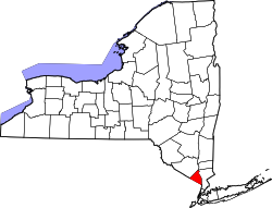 New York Map showing Rockland County
