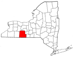 New York Map showing Steuben County