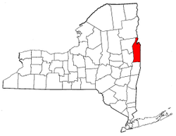 New York Map showing Washington County