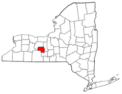 New York Map showing Yates County
