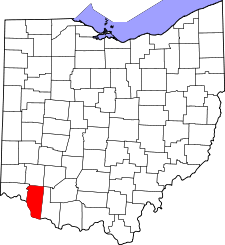 Ohio Map showing Clermont County