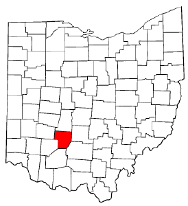 Ohio Map showing Fayette County