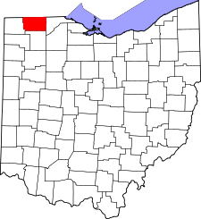 Ohio Map showing Fulton County