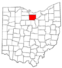 Ohio Map showing Huron County