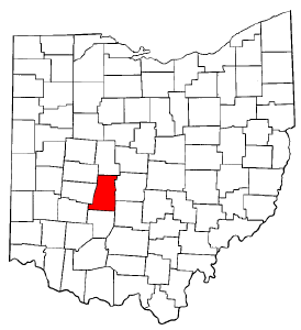 Ohio Map showing Madison County