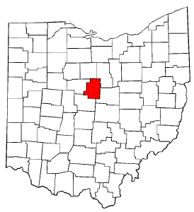 Ohio Map showing Morrow County