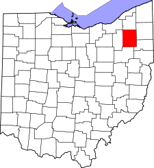 Ohio Map showing Portage County