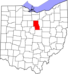 Ohio Map showing Richland County