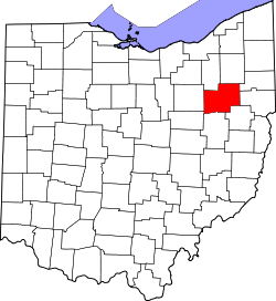 Ohio Map showing Stark County