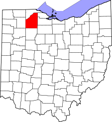 Ohio Map showing Wood County