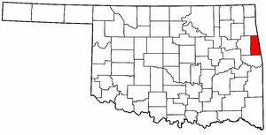 OKLAHOMA Map showing Adair County