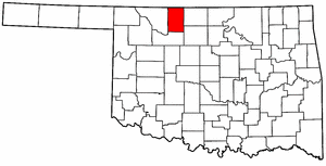 OKLAHOMA Map showing Alfalfa County
