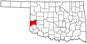 OKLAHOMA Map showing Beckham County