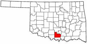 OKLAHOMA Map showing Carter County