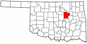 OKLAHOMA Map showing Creek County