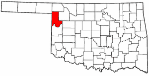OKLAHOMA Map showing Ellis County