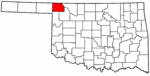 OKLAHOMA Map showing Harper County