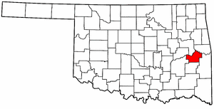 OKLAHOMA Map showing Haskell County