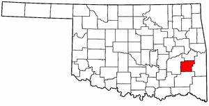 OKLAHOMA Map showing Latimer County