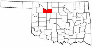 OKLAHOMA Map showing Major County