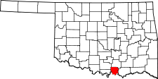 OKLAHOMA Map showing Marshall County