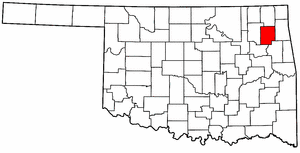 OKLAHOMA Map showing Mayes County