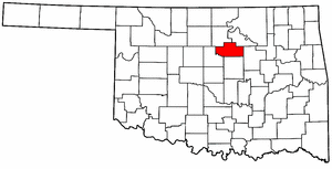 OKLAHOMA Map showing Payne County