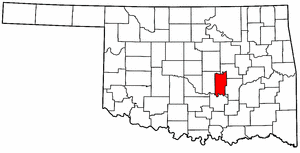OKLAHOMA Map showing Seminole County