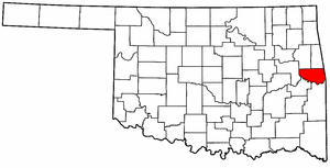 OKLAHOMA Map showing Sequoyah County