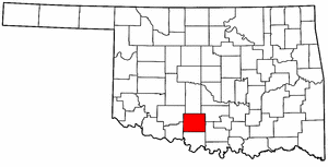OKLAHOMA Map showing Stephens County