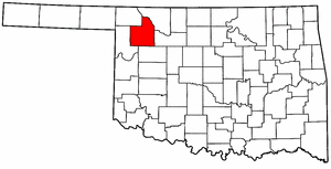 OKLAHOMA Map showing Woodward County