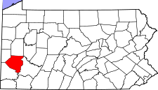Pennsylvania Map showing Allegheny County