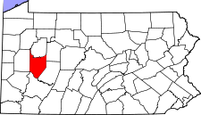 Pennsylvania Map showing Armstrong County