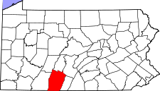 Pennsylvania Map showing Bedford County