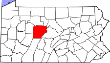 Pennsylvania Map showing Clearfield County