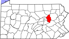 Pennsylvania Map showing Columbia County
