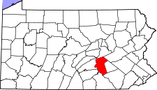 Pennsylvania Map showing Dauphin County