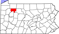 Pennsylvania Map showing Forest County