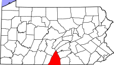 Pennsylvania Map showing Franklin County