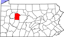 Pennsylvania Map showing Jefferson County