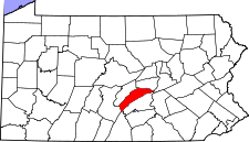 Pennsylvania Map showing Juniata County