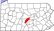 Pennsylvania Map showing Mifflin County