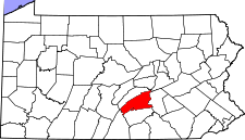 Pennsylvania Map showing Perry County