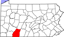 Pennsylvania Map showing Somerset County