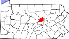 Pennsylvania Map showing Union County