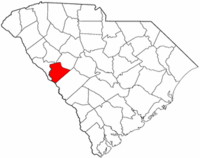 South Carolina Map showing Edgefield County